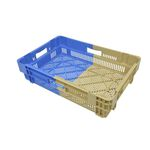vegetable crate / plastic / bi-color / nesting