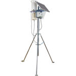 solar-powered weather station / temperature / wind speed / relative humidity