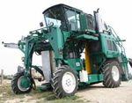 self-propelled grape harvesting machine