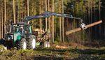 knuckle boom log loader