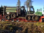 flatbed trailer / 3-axle / forestry