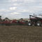 hopper seed drill / trailed / with fertilizer applicator / folding