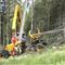 rubber-tired forestry harvester / with crane / 4x4