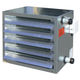 wall-mounted air heater / duct / farm building / greenhouse