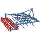 mounted field cultivator / 3-point hitch / with roller / rigid tine