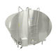 milk tank / horizontal / stainless steel / with cooling system