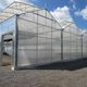 multi span greenhouse / commercial production / permanent / with gutter