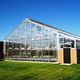 research greenhouse / aluminum frame / with gutter