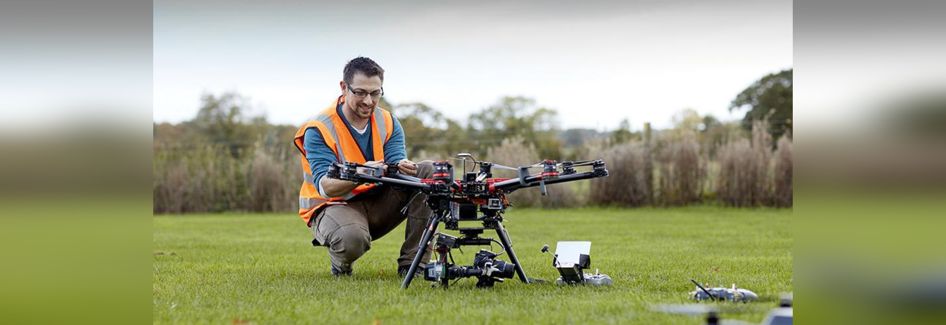 A Field Farmed Only by Drones