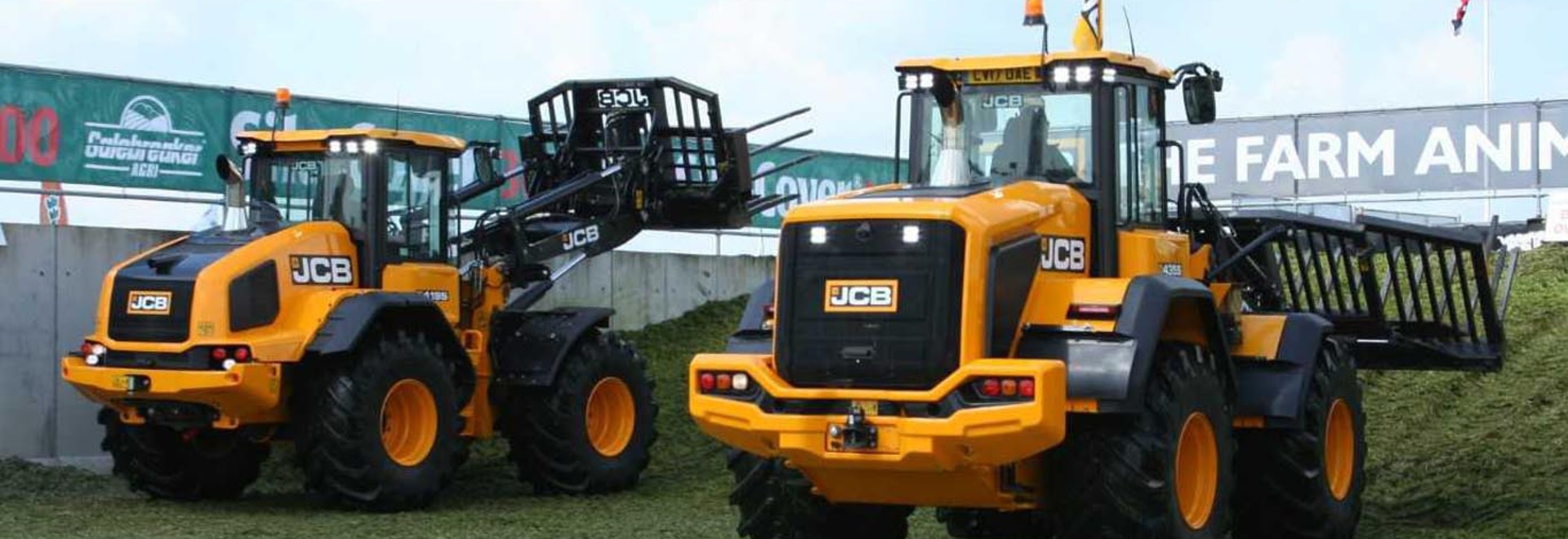 JCB's latest loaders and Fastracs in Action at Scotgrass 2019