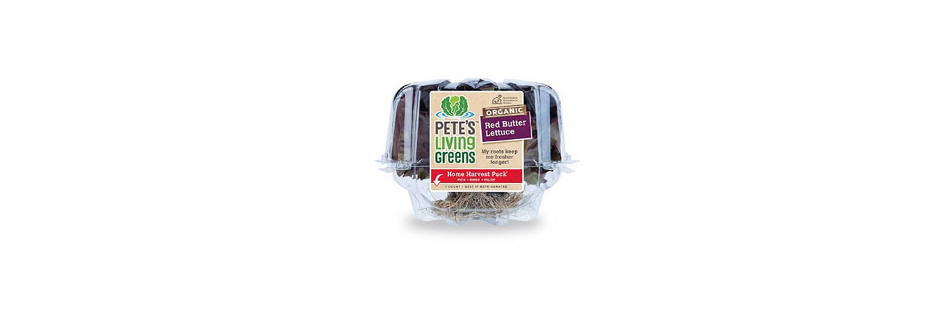 Pete's adds organic red butter lettuce, spring mix