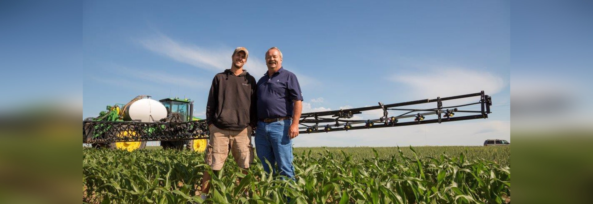 Pictured with son Zach (left), Roric Paulman (right), a Nebraska farmer and chair for the Nebraska Water Balance Alliance, served as a farmer adviser for a pilot project in western Nebraska.
