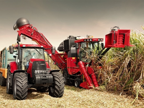 The Case IH Sugar Cane Harvester Austoft A8000.