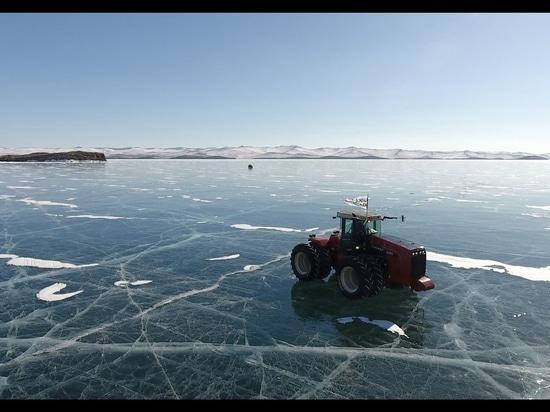 Mitas tires exploring frozen Lake Baikal