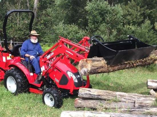 Packing a punch: The Inlon TYM T273 compact 4WD tractor.