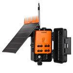 programmatore di irrigazione per valvola di controllo / con perno centrale / wireless / a energia solare