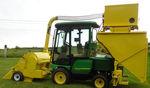 raccoglitrice parcellare per erba medica / per erba / per ricerca / montata su trattore