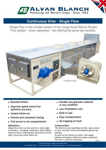 Continuous single flow drier - Alvan Blanch Development Co  Ltd
