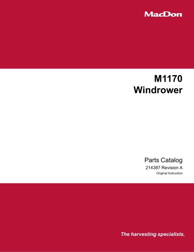 M1170 Windrower