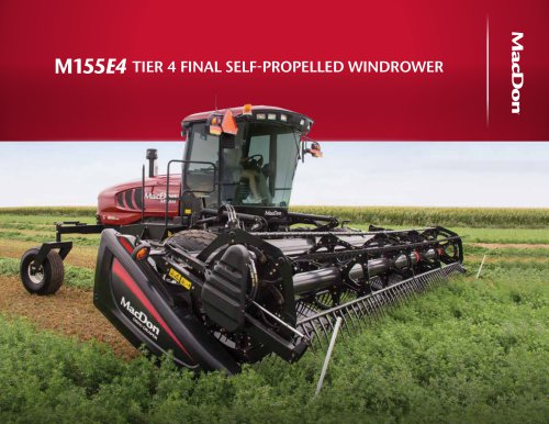 M155 E4 Windrower Brochure