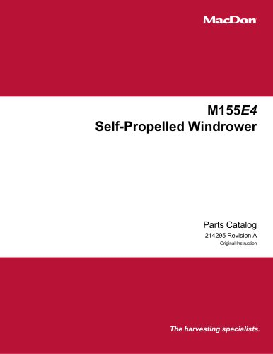 M155E4 Self-Propelled Windrower