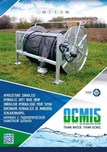 Hydraulic soft hose drum