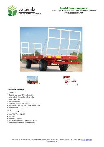 Biaxial bale transporter
