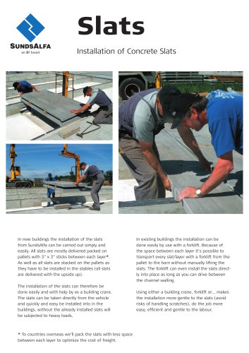 Installation of Concrete Slats