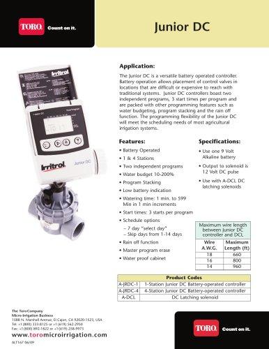Junior DC - Toro - PDF Catalogs   Technical Documentation   Brochure