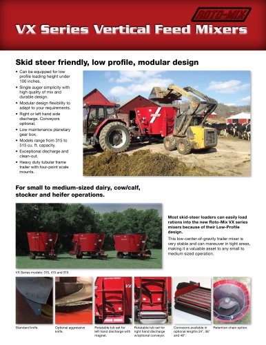 VX Vertical Mixer - Roto-Mix, LLC - PDF Catalogs | Technical