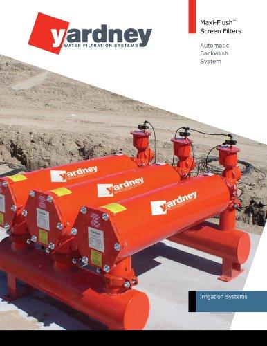 Maxi-Flush - Yardney Water Filtration Systems - PDF Catalogs