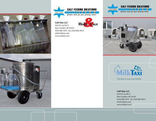 Milk Taxi 4.0 Calf Milk Pasteurizer/ Dispenser