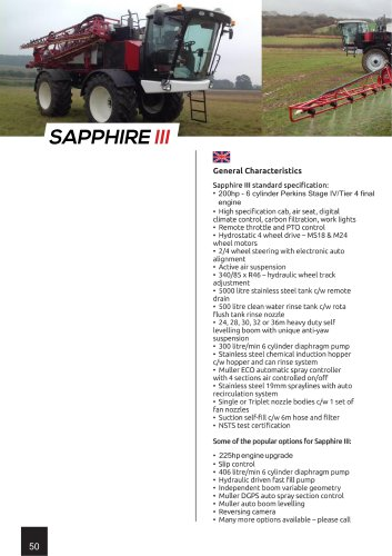Sapphire III - FarmGem - PDF Catalogs | Technical