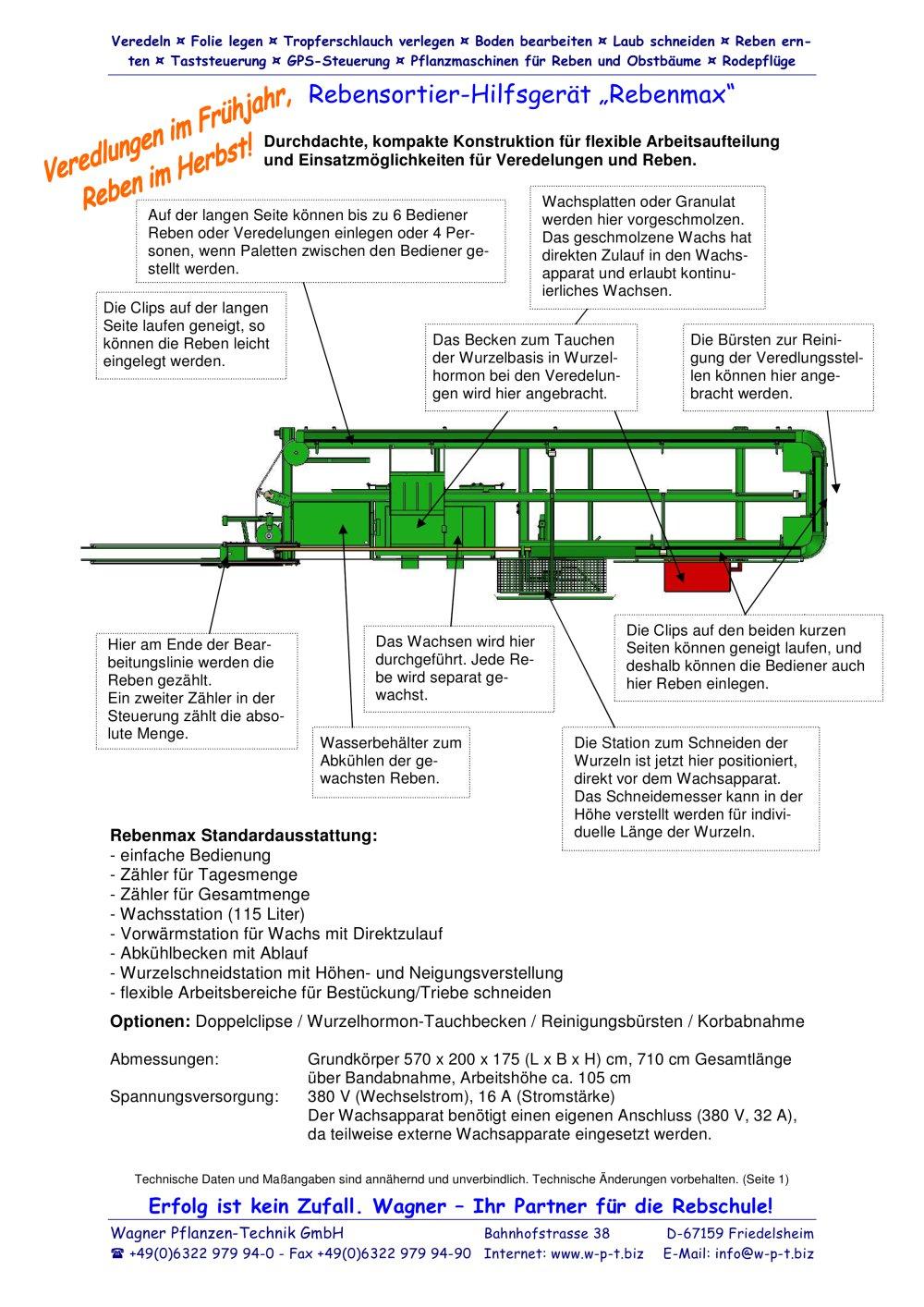 Rebenmax - Wagner Pflanzen-Technik GmbH - PDF Katalog | technische ...