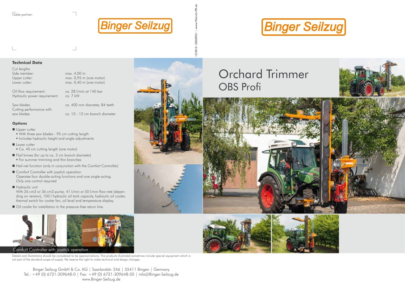 Orchard Trimmer OBS - Binger Seilzug - PDF Catalogue | Technical ...
