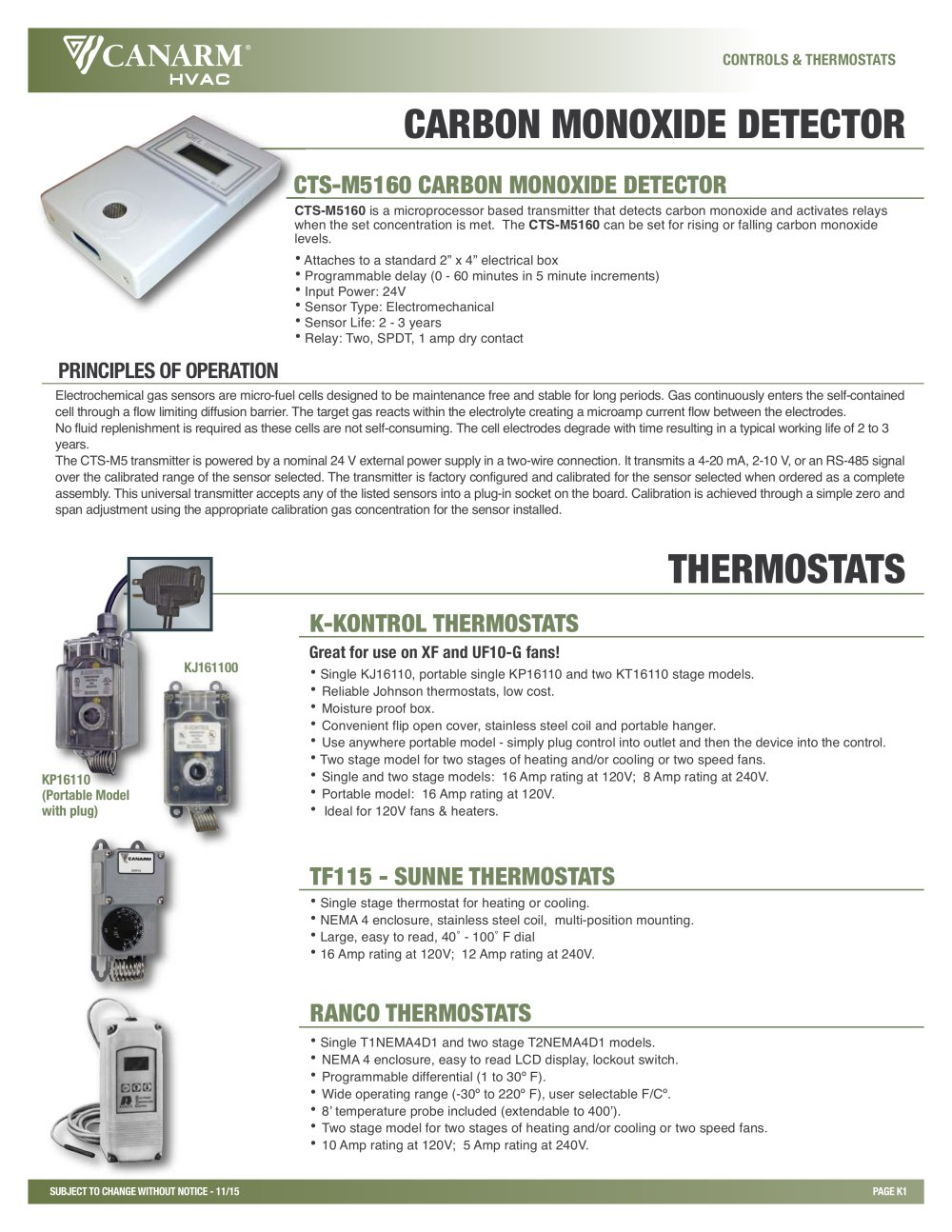 Ranco Thermostat Canarm Agsystems Pdf Catalogs Technical The Digital Temperature Controller 1 Pages