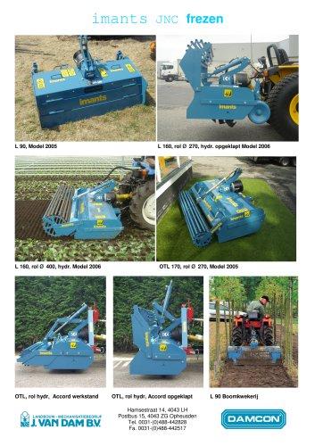 Small tractor rotavator