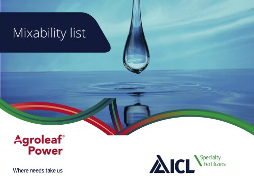 Mixability list ICL-Agroleaf Power