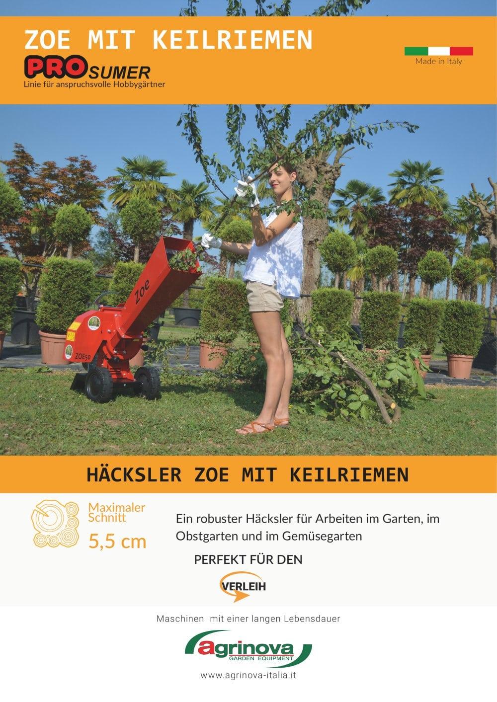 zoe - agrinova srl - catalogue pdf   documentation technique   brochure