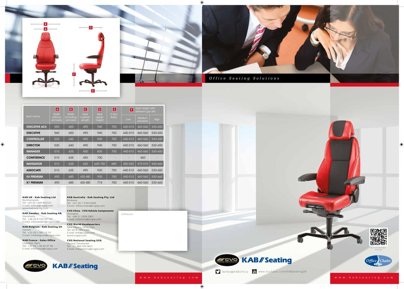 New English Office Seat Brochure   1 / 6 Pages