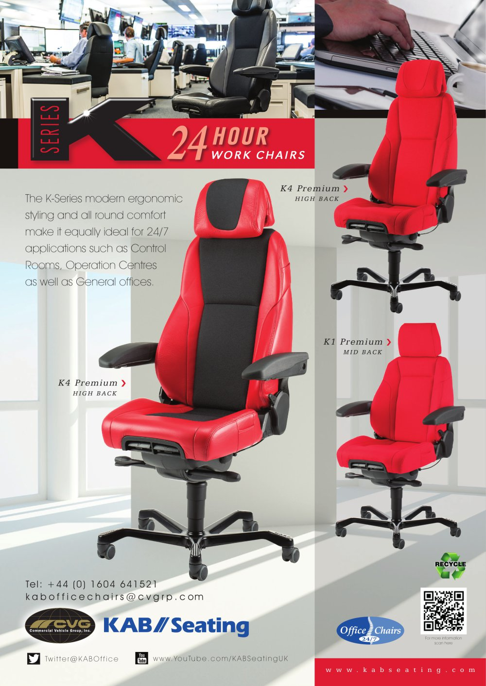 Office Chair K Series   1 / 2 Pages