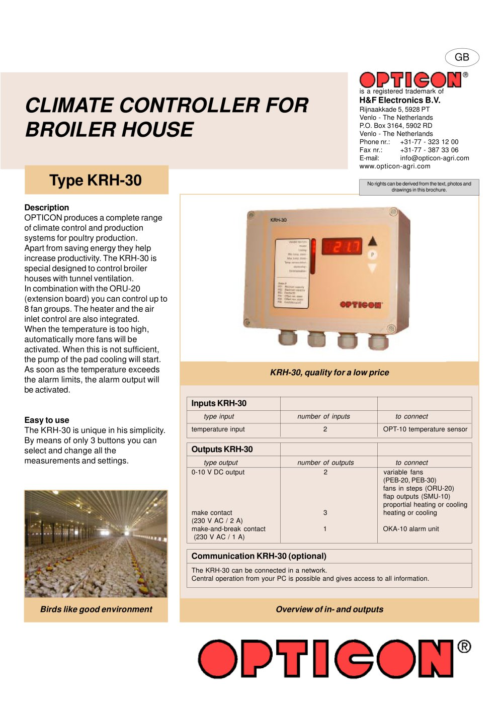 Ventilation system poultry breeder house north ireland opticon agri - Climate Controller For Broiler House 1 2 Pages