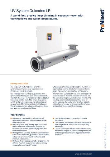 UV System Dulcodes LP - ProMinent GmbH - PDF Catalogs | Technical