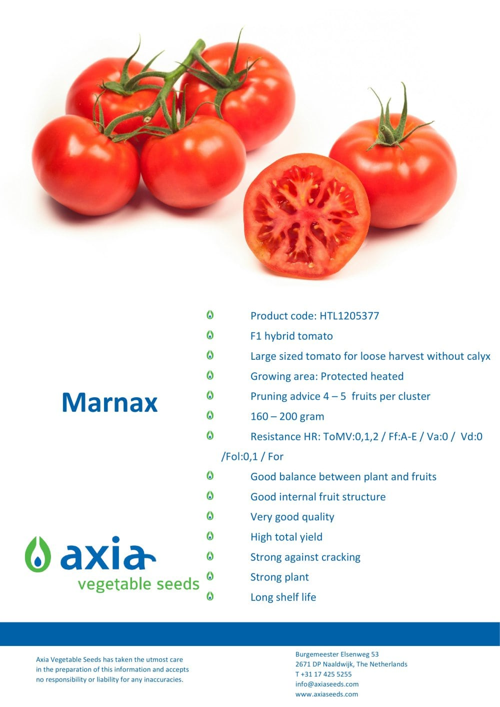 Marnax - Axia Vegetable Seeds - PDF Catalogue | Technical ...
