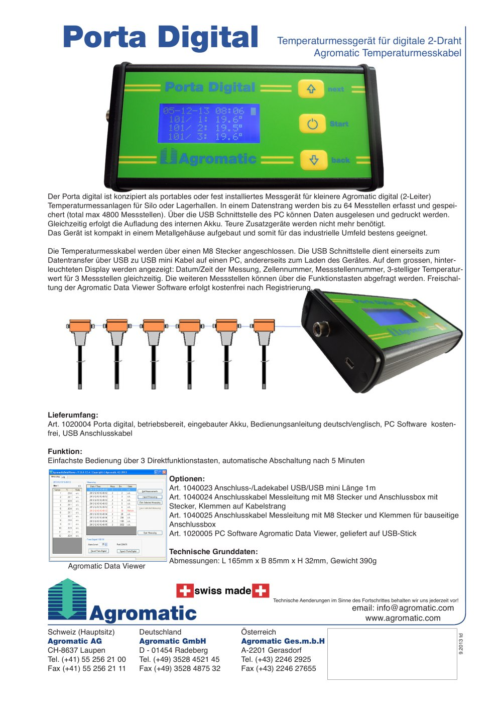 PORTA Digital control unit - Agromatic AG - PDF Catalogue ...