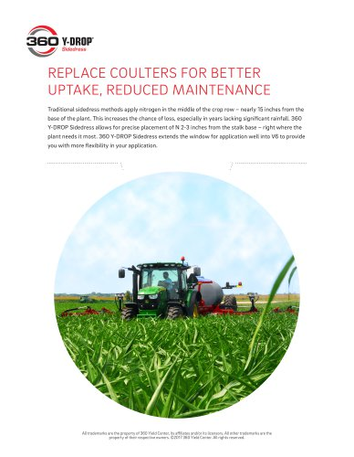 REPLACE COULTERS FOR BETTER UPTAKE, REDUCED MAINTENANCE
