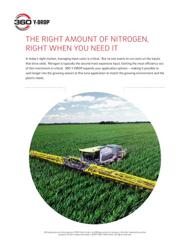 THE RIGHT AMOUNT OF NITROGEN, RIGHT WHEN YOU NEED IT