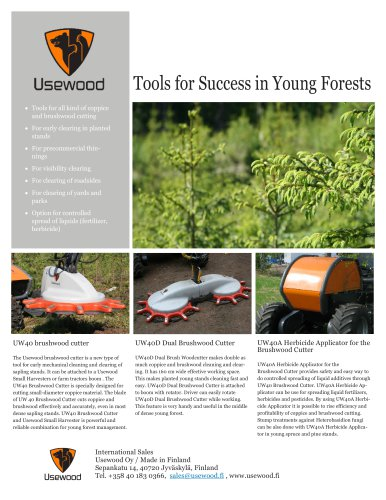 Tools for Success in Young Forests