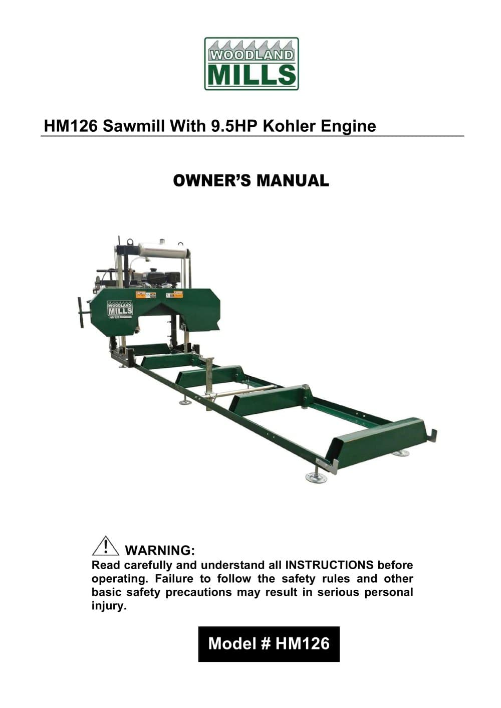 HM126 Sawmill - 1 / 43 Pages