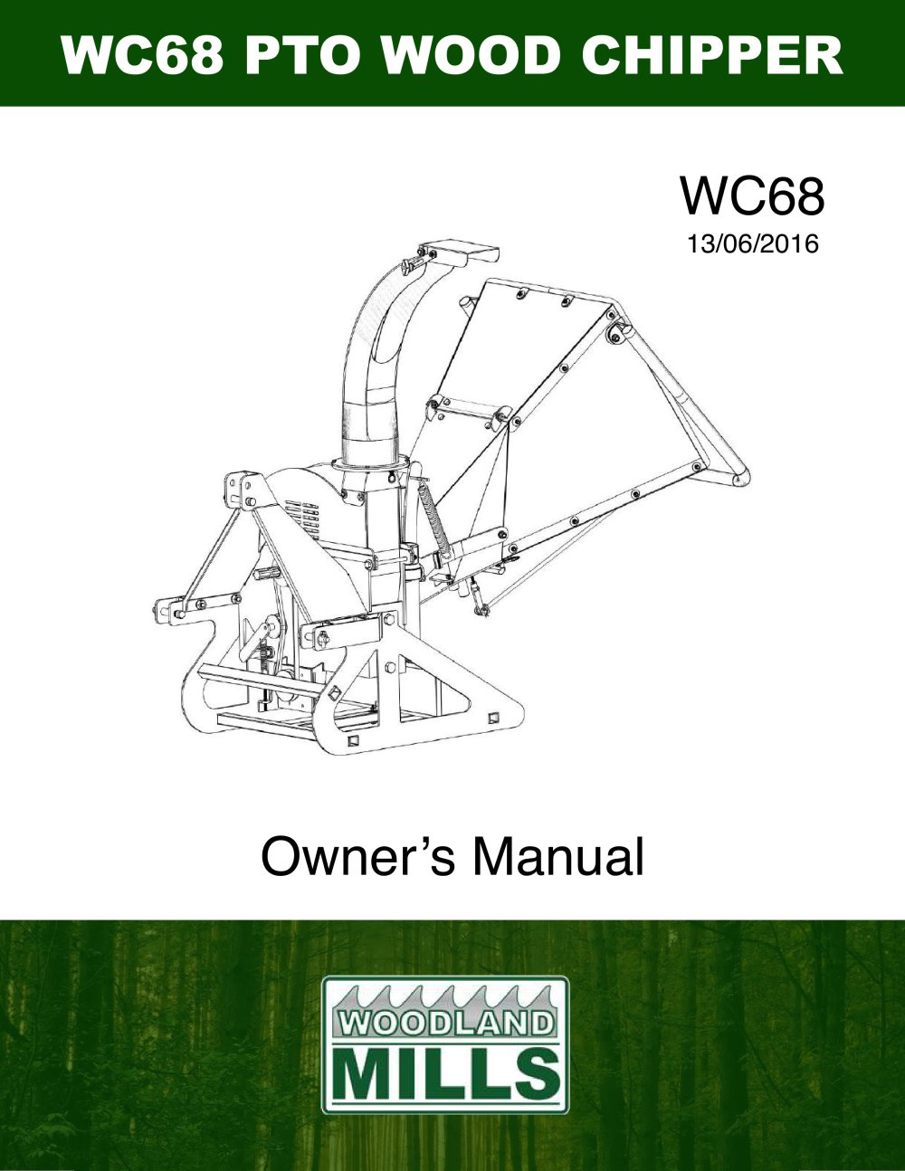 Wc68 Woodland Mills Europe Ab Pdf Catalogue Technical Wood Chipper Engine Diagram 1 32 Pages